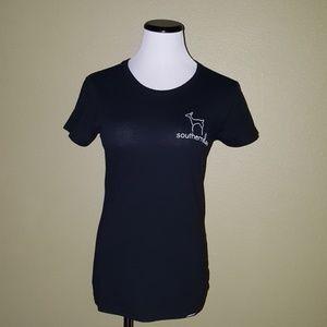 Southern Doe black short sleeve t shirt S
